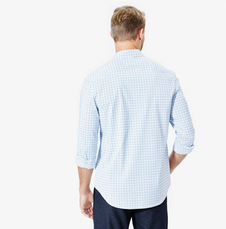 Meridian Dress Shirt 2.0 Classic Fit - Peak Blue Tattersall