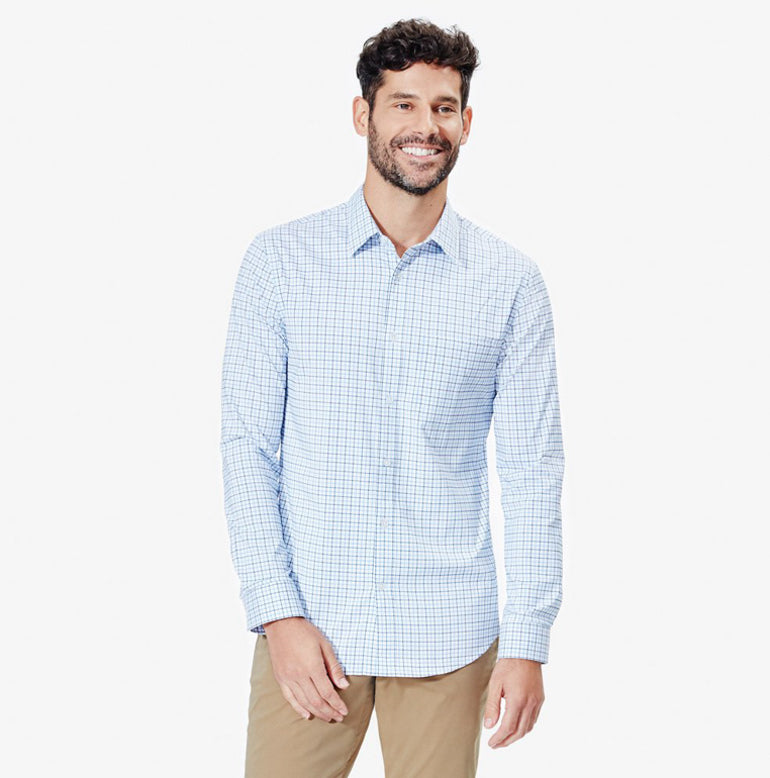 Meridian Dress Shirt 2.0 Slim Fit - Peak Blue Tattersall
