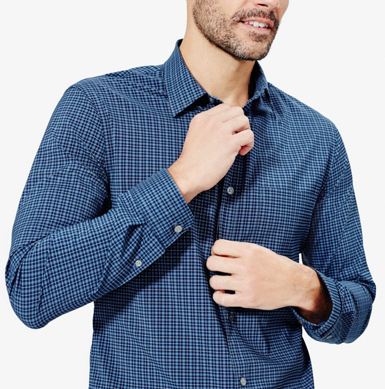 Meridian Dress Shirt 2.0 Slim Fit - Deep Blue Mini-Check