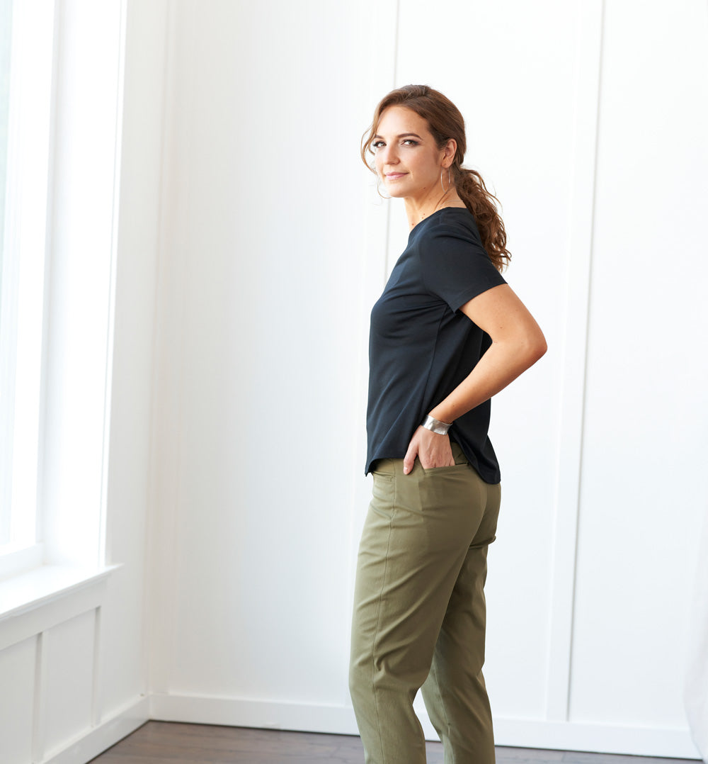 Palma Chino Pants Standard Fit - Olive Leaf