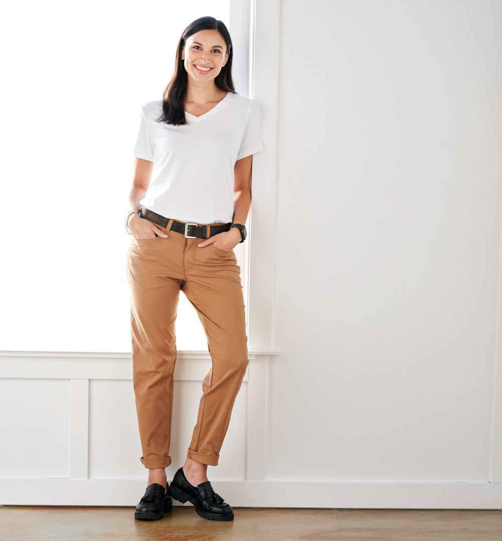 Palma Chino Pants Petite Fit - Toasted Tan
