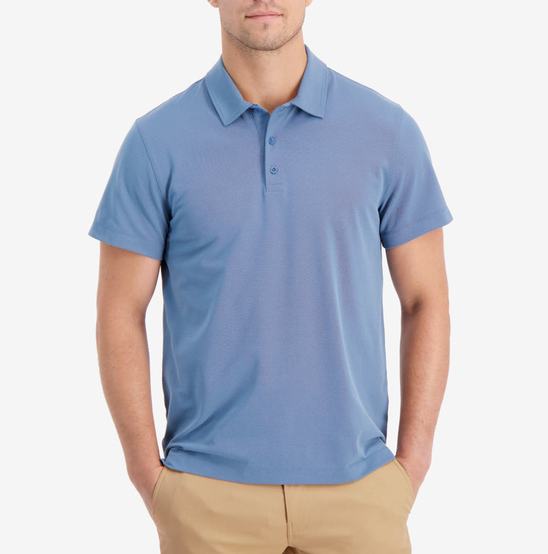 Piton Polo Shirt Slim Fit - Final Sale - French Blue