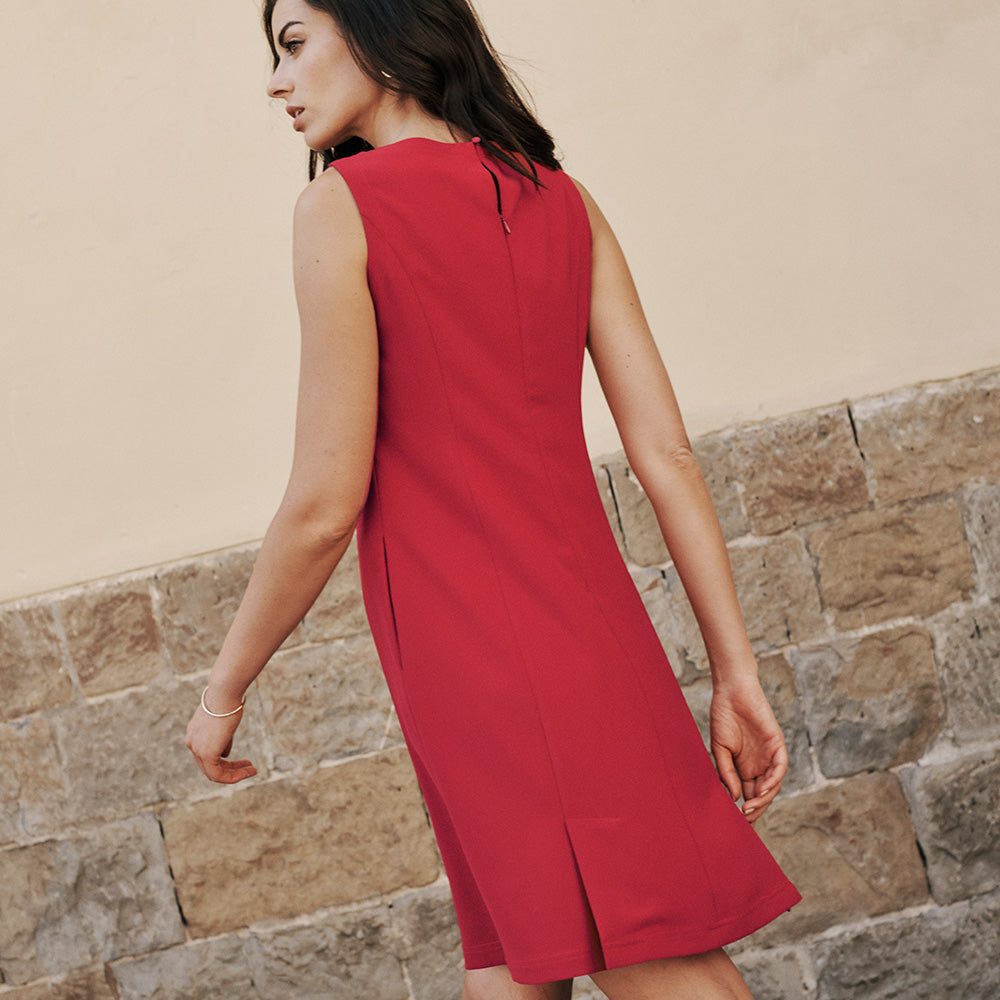 Trevi Dress Standard Fit - Dark Crimson