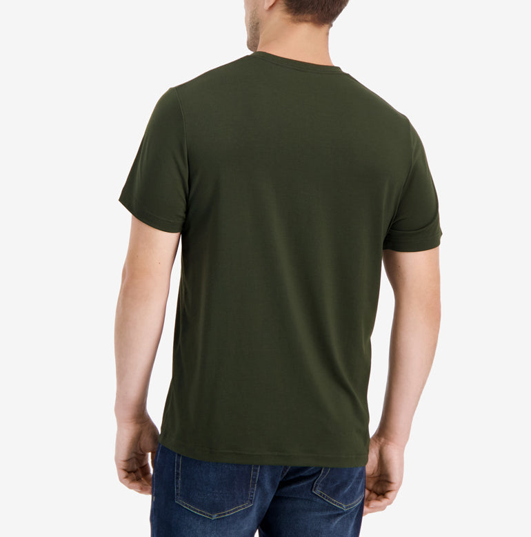 Threshold Crew Neck T-Shirt Slim Fit - Deep Olive