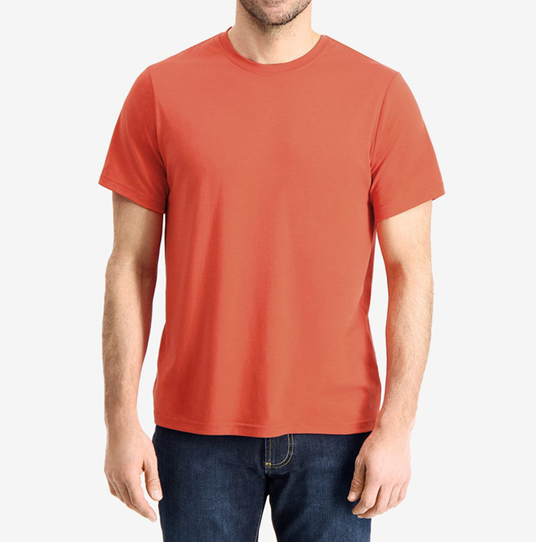 Threshold Crew Neck T-Shirt Classic Fit - Deep Orange