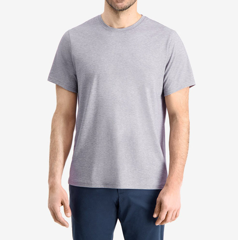 Threshold Crew Neck T-Shirt Slim Fit - Mist Grey