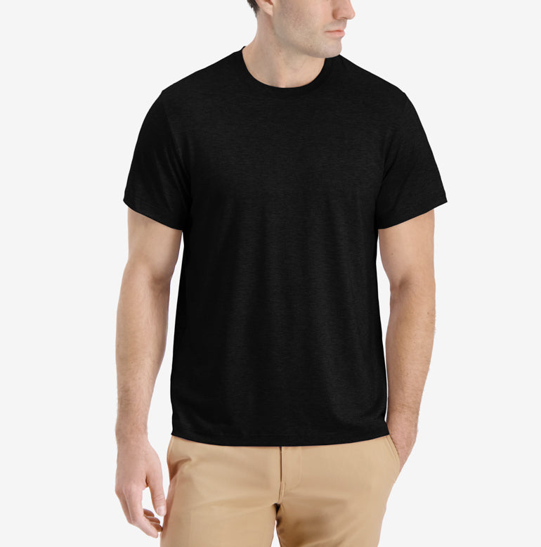 Threshold Crew Neck T-Shirt Classic Fit - Onyx Black