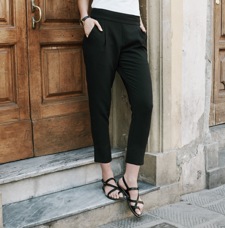 Trevi Ankle Pant Petite Fit - Pitch Black