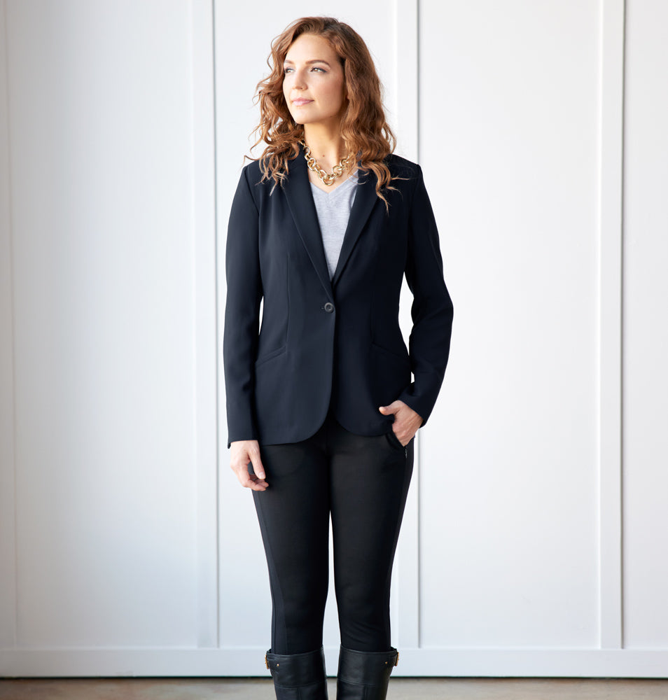 Trevi Blazer Standard Fit - Final Sale - Pitch Black