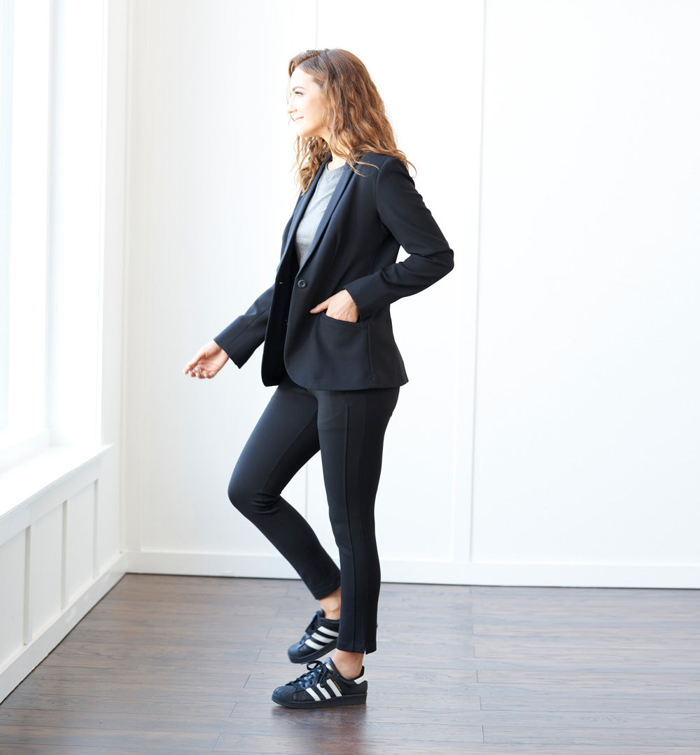 Trevi Blazer Petite Fit - Final Sale - Pitch Black