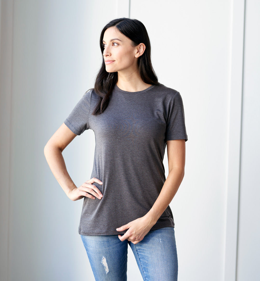 Threshold Crew Neck T-Shirt Standard Fit - Hurricane Grey