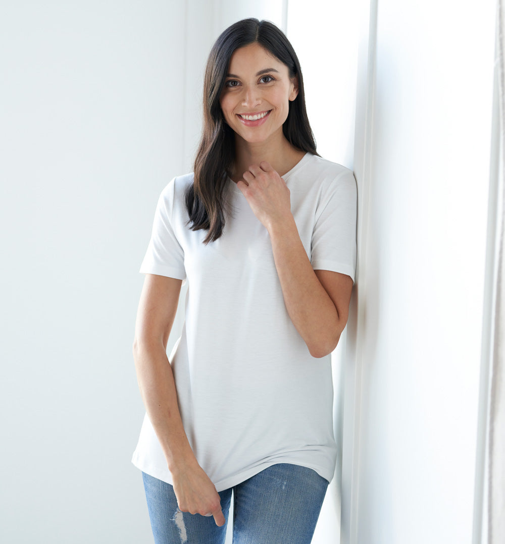 Threshold Crew Neck T-Shirt Petite Fit - Peak White