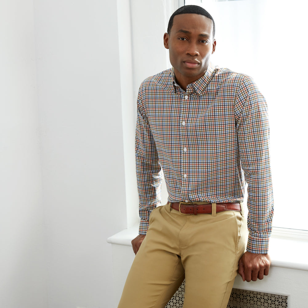 Zenith Dress Shirt Slim Fit - Multicolor Gingham