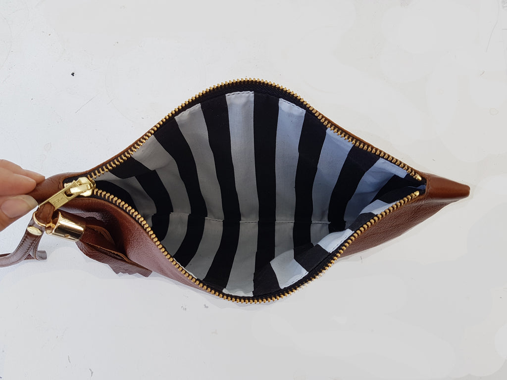 Leather Clutch with tassel paper Pattern - £12