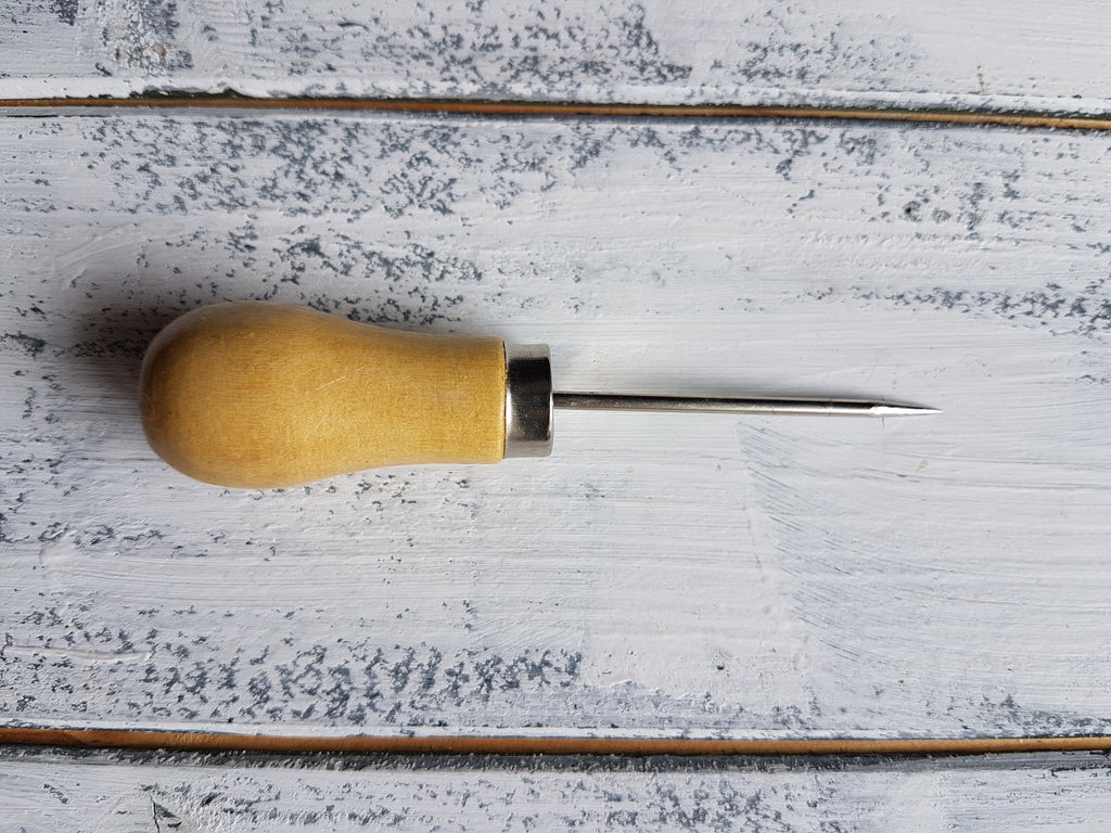 RJ Leather Studio Awl Tool, 30cm Metal Ruler and a 3mm Hole Punch