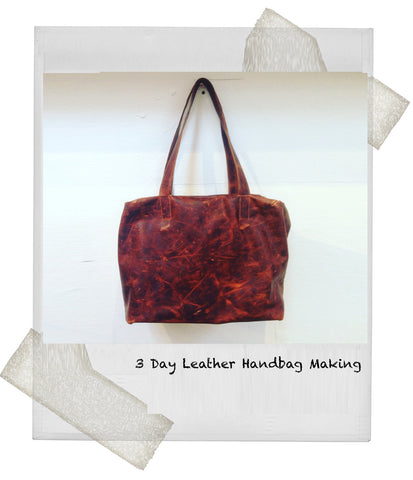 1 Day Beginners Fabric Handbag Course - stripped fabric & zipped