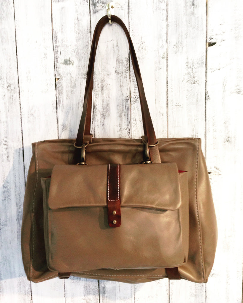 4 Day Leather Handbag Making Course - Backpack with shoe bag