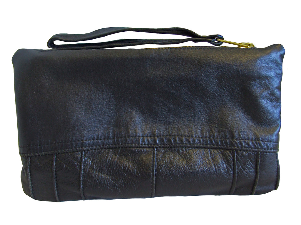 CLR Plain Black Wristlet