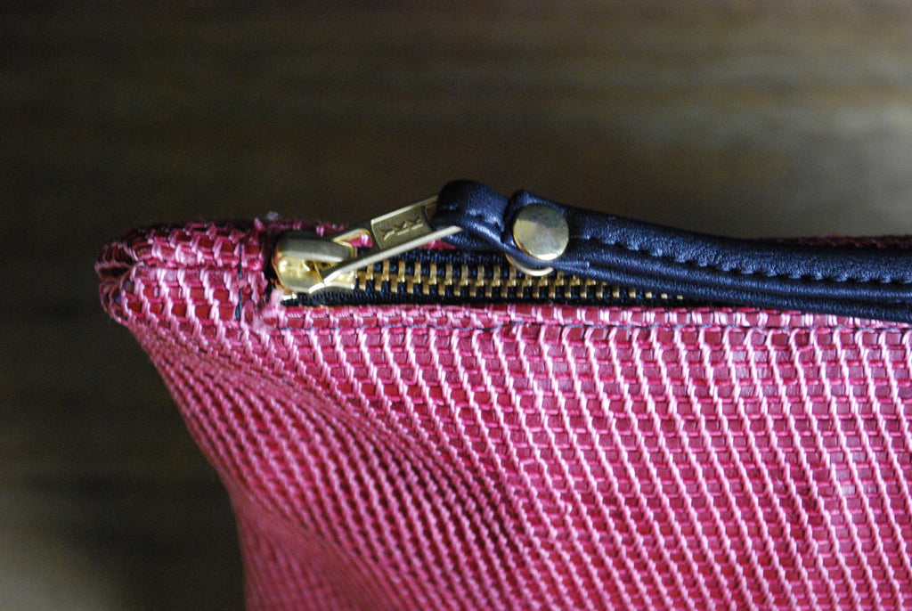 Red Woven Leather ipad/Clutch Wristlet