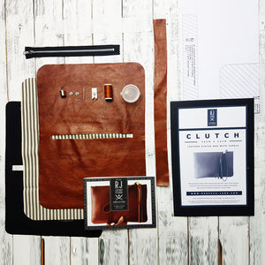 """ The Arthur"" Leather Clutch - Kit & Paper Pattern £65"