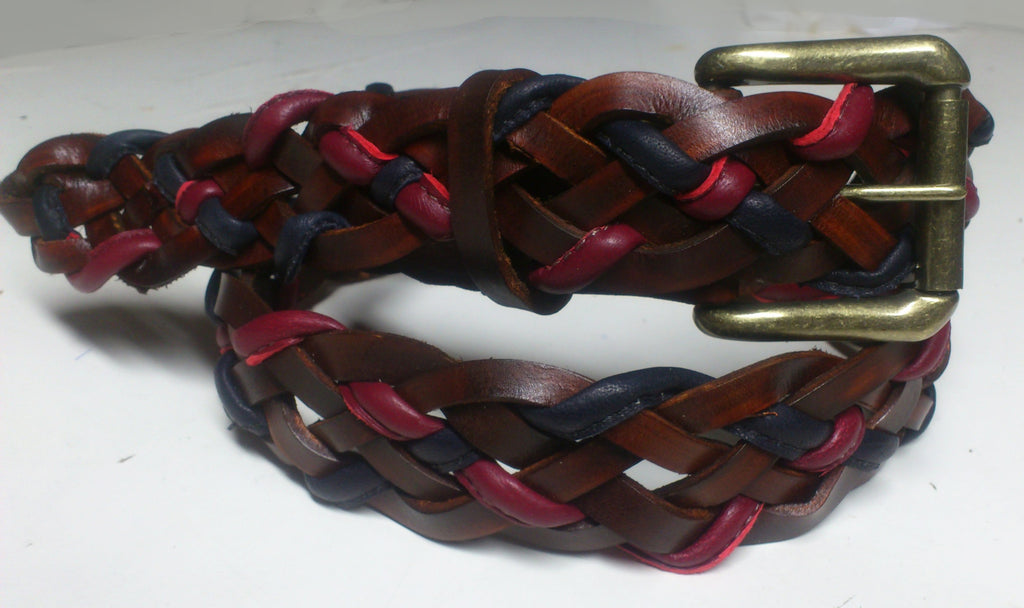 1 Day Leather Belt Making - braided leather strips