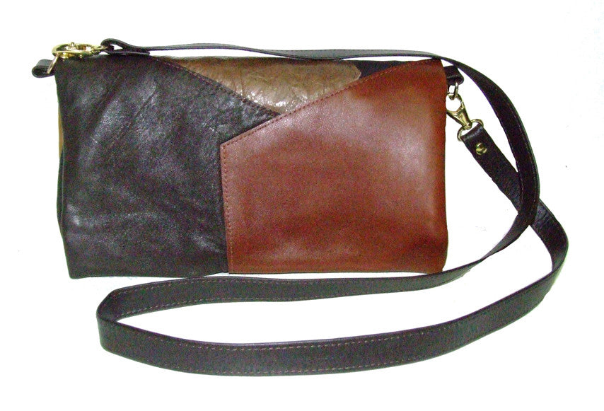 Reclaimed leather Mini Augustus Patched Leather