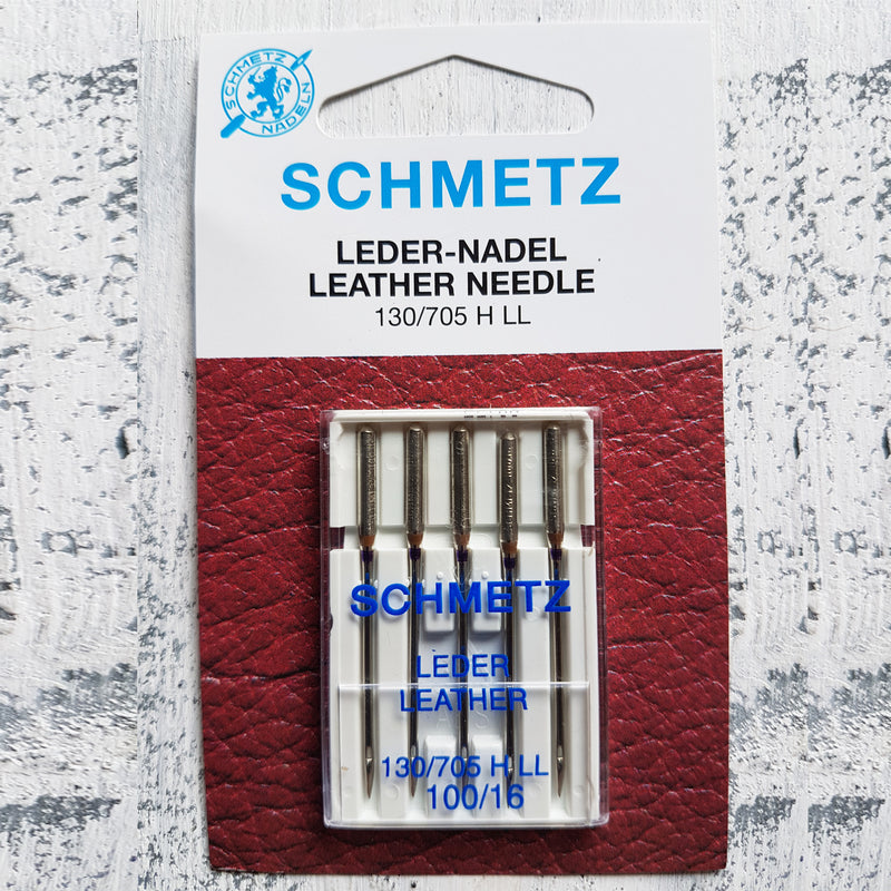 RJ Leather Studio Pack of 5 Schmetz Leather Point Needles Size 100
