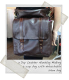 4 Day Leather Handbag Making Course - Mens bag with shoe bag