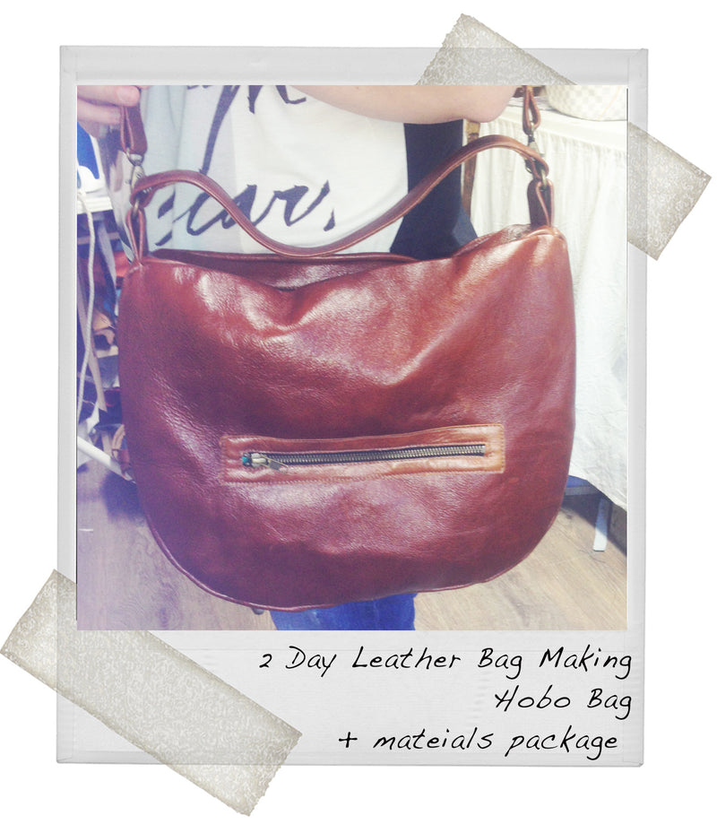 2 Day Leather Handbag Making - Hobo bag