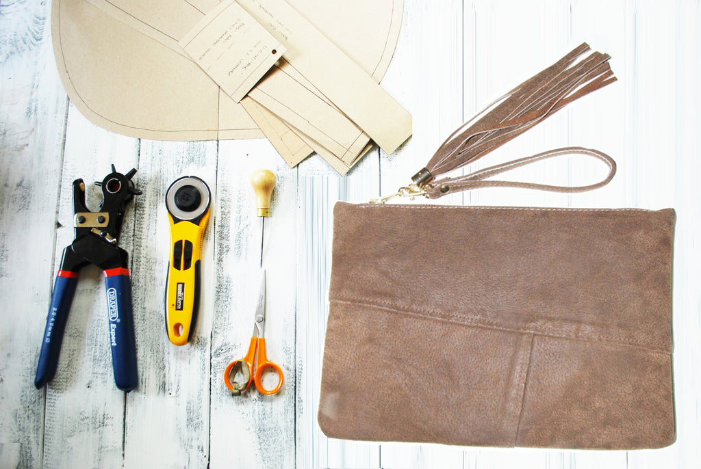 1 Day Leather Clutch Bag Making Course - Beginners - £110