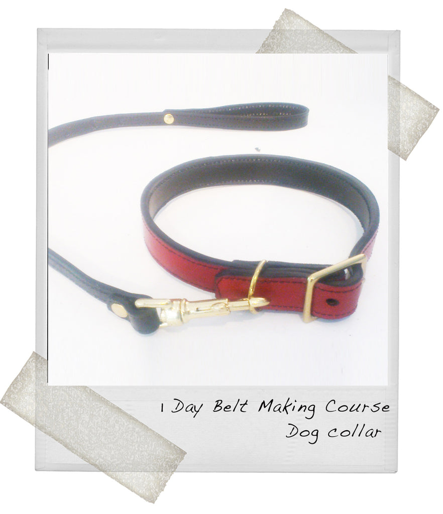 1 Day Leather Belt Making - Dog collar & matching lead