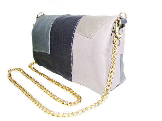 CLR Mini Augustus Patched Leather & Chain