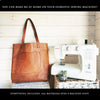 """The Charlie"" Leather Tote - Kit & Paper Pattern - £119"