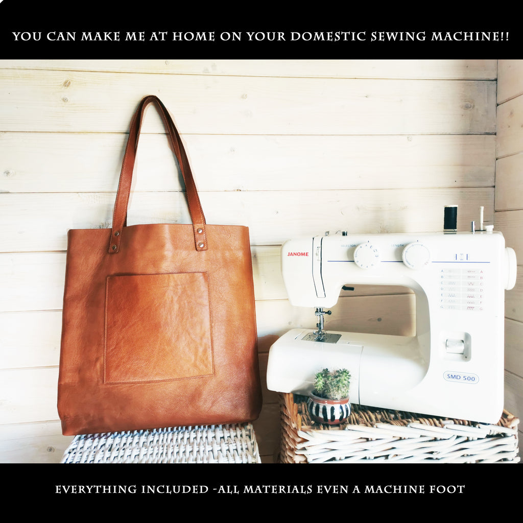"""The Charlie"" Leather Tote - Kit & Paper Pattern - £164 on sale £99"