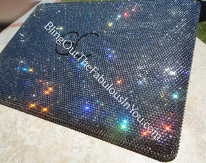 13 Inch Swarovski Crystal Macbook Pro Cover With Initials