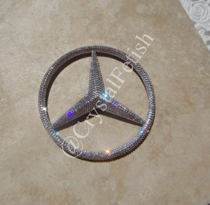 Mercedes Benz Grille Emblem in Crystal Clear Swarovski Crystals