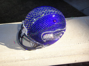 Seattle Seahawks Swarovski Bling Mini Football Helmet