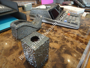 Black Diamond Custom Swarovski Desk Calculator