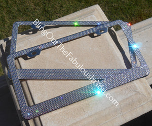 Cf Signature Swarovski License Plate Frame