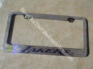 Los Angeles Lakers Chrome Swarovski License Plate Frame
