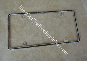 Swarovski Slim Rim License Plate Frame