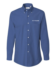 FITTEAM Long Sleeve Oxford Shirt