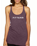 FITTEAM Women's Tri-blend Racerback Tank