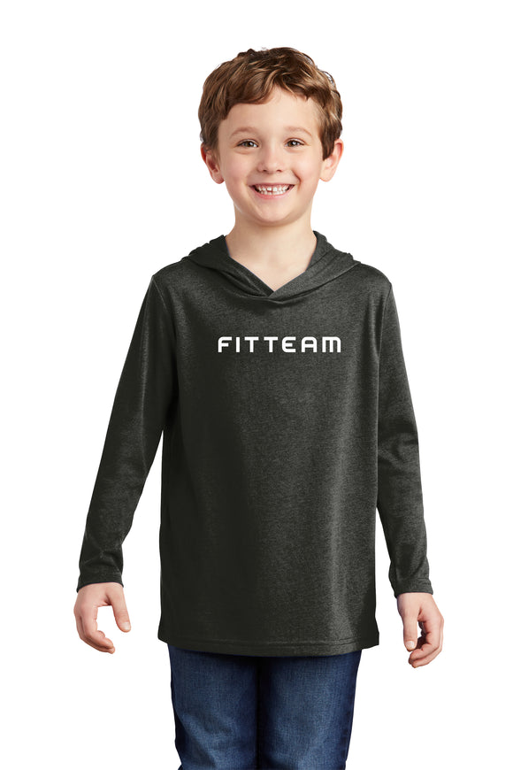 FITTEAM Youth Tri-blend Long Sleeve Hoodie