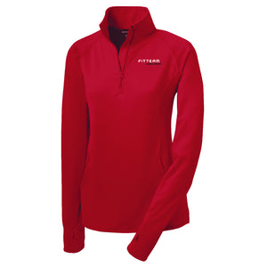 FITTEAM Racing Women's 1/2 Zip Pullover