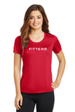 FITTEAM Women's Posi-Charge Elevate Scoop Neck T-shirt