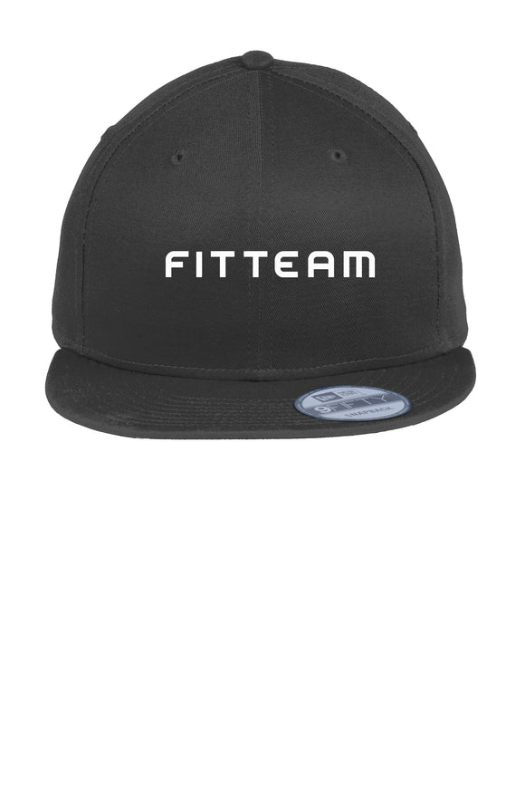 FITTEAM Flat Bill Snapback Cap