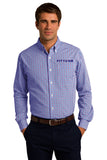 FITTEAM Long Sleeve Gingham Easy Care Shirt