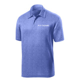 FITTEAM Heathered Moisture Wicking Polo