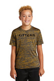 FITTEAM Youth Posi-charge Electric Heather T-shirt